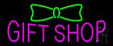 Pink Gift Shop Green Ribbon Neon Sign