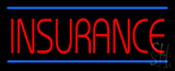 Red Insurance Blue Lines Neon Sign
