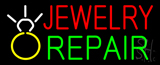 Jewelry Repair Logo Block Neon Sign