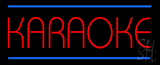Karaoke Blue Double Line Neon Sign