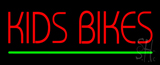 Red Kids Bikes Green Line Neon Sign