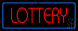 Red Lottery Blue Border Neon Sign