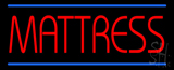 Red Mattress Blue Lines Neon Sign