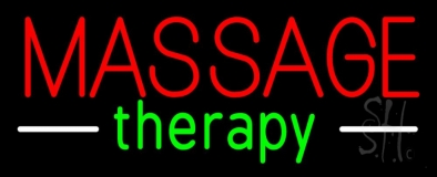 Red Massage Therapy Neon Sign
