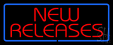 Red New Releases Blue Border Neon Sign