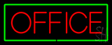 Red Office Green Border Neon Sign