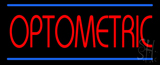 Red Optometric Blue Lines Neon Sign