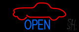 Car Logo Open Neon Sign
