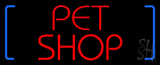 Red Pet Shop Block Neon Sign