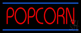 Red Popcorn Blue Lines Neon Sign