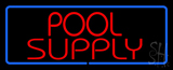 Red Pool Supply With Blue Border Neon Sign