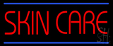 Red Skin Care Blue Lines Neon Sign