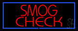 Smog Check Blue Border Neon Sign