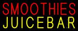 Red Smoothies Juice Bar Yellow Neon Sign