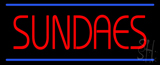 Red Sundaes Blue Lines Neon Sign