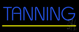 Blue Tanning Yellow Line Neon Sign