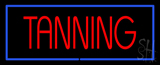 Red Tanning With Blue Border Neon Sign
