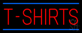 Red T Shirts Blue Lines Neon Sign