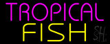 Purple Tropical Yellow Fish Neon Sign
