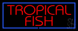 Tropical Fish Blue Border Neon Sign