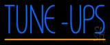 Blue Tune Ups Yellow Line Neon Sign