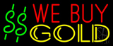 We Buy Gold Dollar Logo Neon Sign