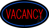Vacancy Oval Blue Neon Sign