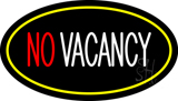 No Vacancy Oval Yellow Neon Sign