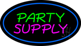 Party Supply Blue Oval Neon Sign
