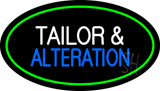 Tailor And Alteration Oval Green Neon Sign