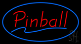 Pinball Blue Oval Neon Sign