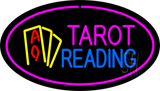 Tarot Reading Pink Oval Neon Sign
