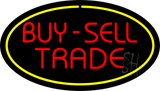 Buy Sell Trade Oval Yellow Neon Sign