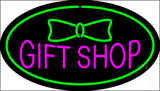 Gift Shop Oval Green Neon Sign