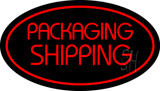 Packaging Shipping Oval Red Neon Sign