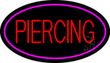Piercing Oval Pink Neon Sign