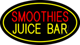 Smoothies Juice Bar Oval Yellow Neon Sign