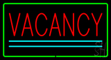 Vacancy Rectangle Green Neon Sign