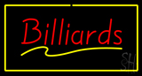 Billiards With Rectangle Neon Sign