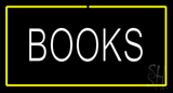 Books Yellow Border Neon Sign