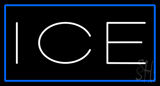 White Ice Blue Border Neon Sign