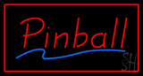 Red Pinball Rectangle Neon Sign