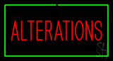 Red Alterations Green Border Neon Sign