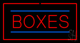 Boxes Rectangle Red Neon Sign