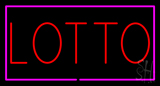 Red Lotto Pink Border Neon Sign