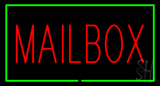 Mailbox Rectangle Green Neon Sign