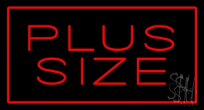 Red Plus Size Red Border Neon Sign