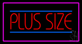 Plus Size Pink Border Neon Sign