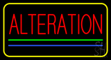 Red Alteration Blue Green Line Yellow Border Neon Sign