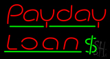 Red Payday Loan Dollar Logo Neon Sign